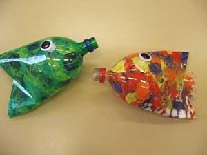 Поделки своими руками из пластиковых бутылки рыбка